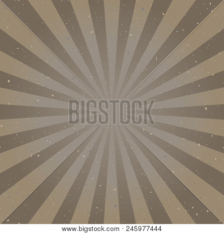 Sunlight abstract background with particles of debris. speckled brown color burst background. Retro vector illustration. Sun beam ray sunburst pattern background. Retro backdrop. starburst wallpaper poster