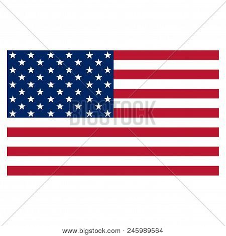 Usa Flag Vector Icon Isolated On White Background