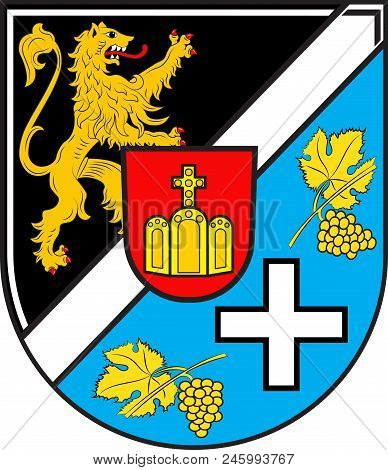 Coat Of Arms Of Suedliche Weinstrasse Is A District In The South Of Rhineland-palatinate, Germany. V