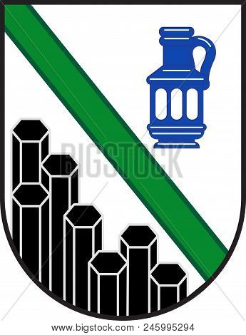 Coat Of Arms Of Westerwaldkreis Is A District In The East Of Rhineland-palatinate, Germany. Vector I