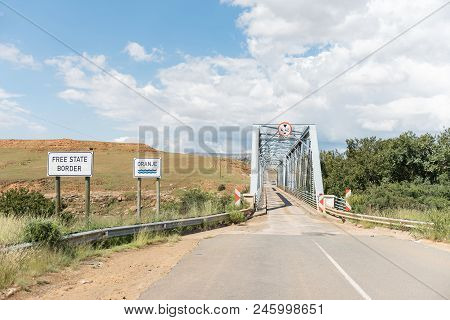 The Single Lane Bridge Over The Orange River Between Sterkspruit And Zastron