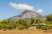 Ometepe, Nicaragua. February 2018. A view of the Volcano Concepcion on ometepe island in Nicaragua. poster