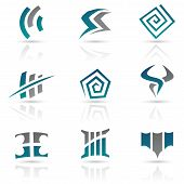 Vector Illustration of Antique Style Abstract Icons poster
