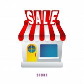 Webstore. Discount. Sale.  Vector illustration. Flat. Gradient. poster