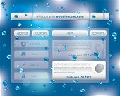 special website template with special aqua design poster