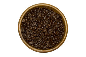 plate with coffee beans