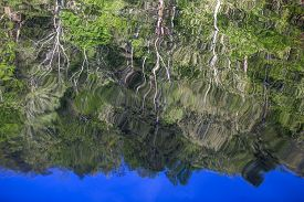 Trees Reflected In The Rippling Waters Of The Mountain Fork River, Southeast Oklahoma