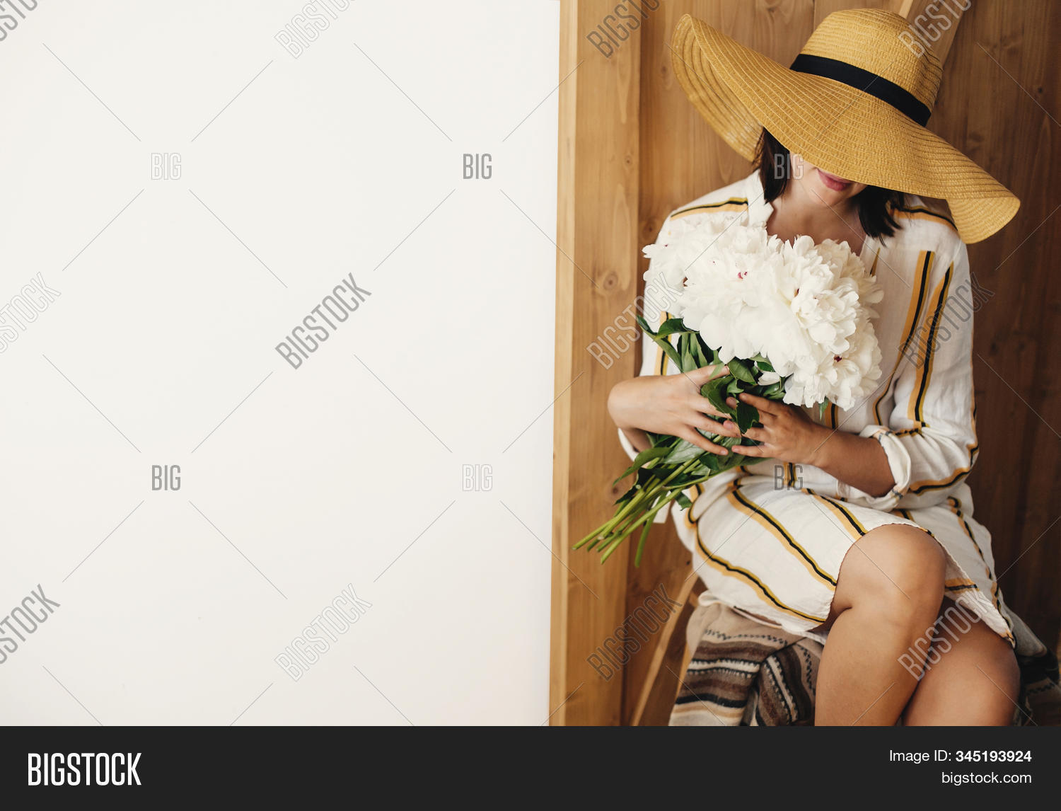 Stylish Boho Woman Hat Image Photo Free Trial Bigstock