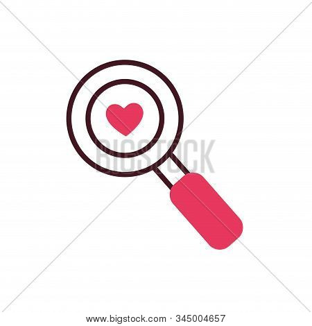 Heart Inside Lupe Design Of Love Passion Romantic Valentines Day Wedding Decoration And Marriage The