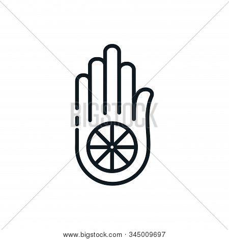 Jainism Hand Symbol Design, Religion Culture Belief Religious Faith God Spiritual Meditation And Tra