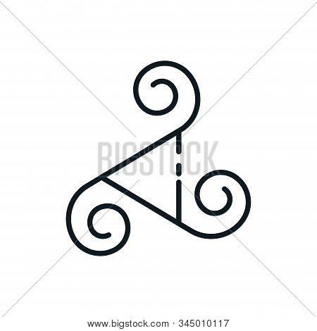 Triskele Symbol Design, Religion Culture Belief Religious Faith God Spiritual Meditation And Traditi