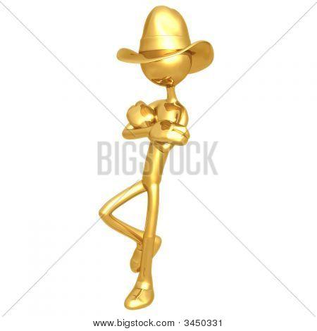 Cowboy Leaning