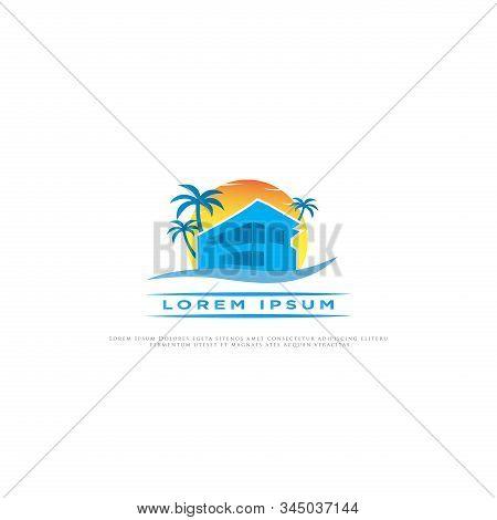 Beach House Logo Vector Photo Free