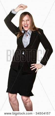Dancing Business Lady