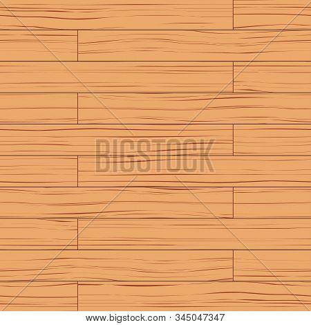 Laminate Parquet Board Floor Seamless Pattern. Planking In Checkerboard Pattern. Light Color. Oak An
