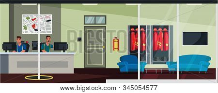 Emergency Service Operators Flat Illustration. 911 Call Center Workers With Headset Cartoon Vector M