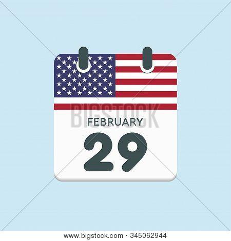 Calendar Day 29 February, Leap Year, Flag Usa