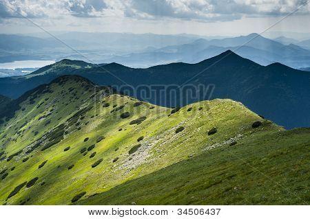 Mountain Ridge In Summer