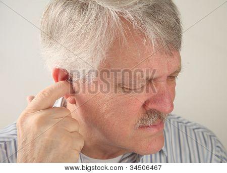 ear pain in a senior