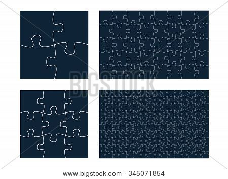 Puzzle Patterns Collection. Jigsaw Templates, Jigsaw Shapes.