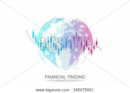Stock Market Or Forex Trading Business Graph Chart For Financial Investment Concept. Business Presen