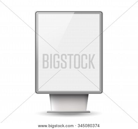 Light Boxes Template.signboard And Announcement Lightbox Screen.realistic Boards For Advertising And