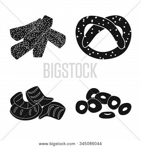 Vector Illustration Of Party And Cooking Symbol. Collection Of Party And Crunchy Stock Symbol For We