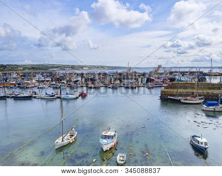 15 June 2018: Newlyn, Cornwall, Uk - The Fishing Port And Seaside Town. In South West Cornwall.