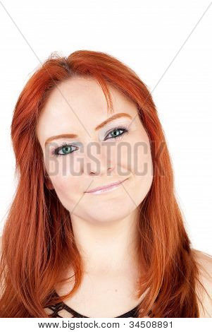 Woman With Red Hears