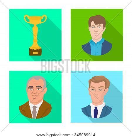Vector Design Of Checkmate And Thin Symbol. Collection Of Checkmate And Target Stock Vector Illustra