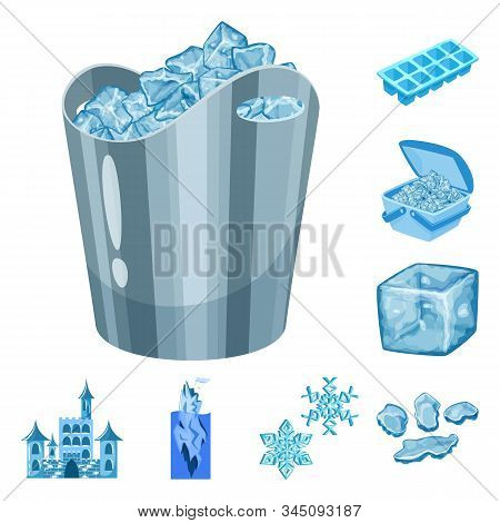 Vector Design Of Frost And Water Sign. Collection Of Frost And Wet Vector Icon For Stock.