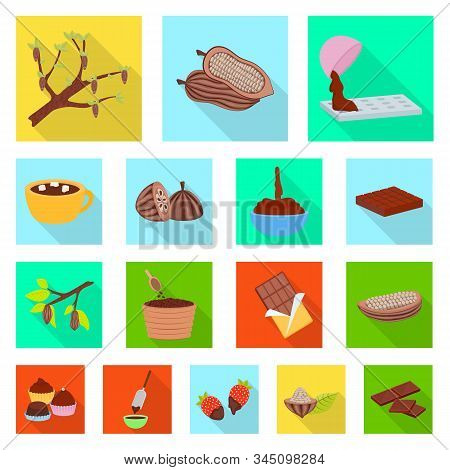 Vector Design Of Treat And Product Logo. Collection Of Treat And Yummy Stock Vector Illustration.