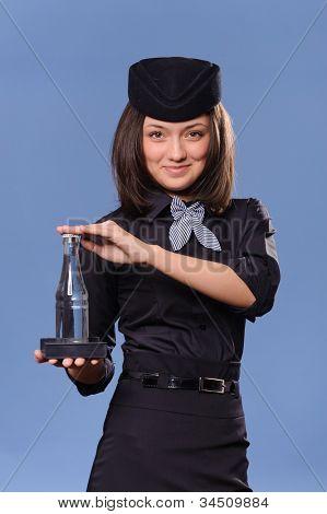 Portrait of a beautiful young flight attendant