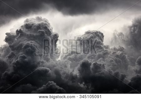 Clouds Background. Dramatic Grey Clouds. Bad Weather