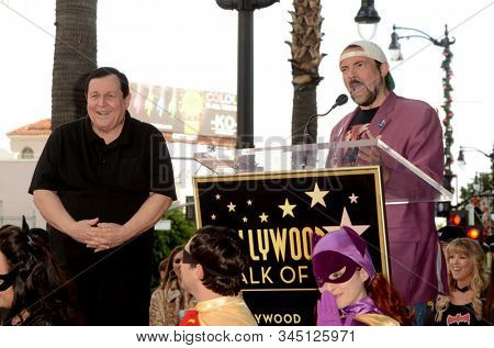 LOS ANGELES - JAN 9:  Burt Ward, Kevin Smith at the Burt Ward Star Ceremony on the Hollywood Walk of Fame on JANUARY 9, 2020 in Los Angeles, CA
