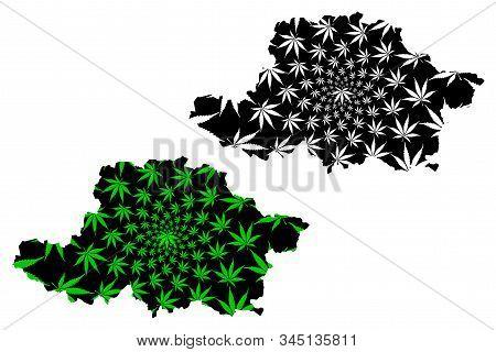 Arad County (administrative Divisions Of Romania, Vest Development Region) Map Is Designed Cannabis