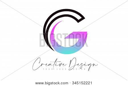 Letter G Logo Design Icon With Modern Creative Colorful Swoosh. Modern G Letter Design Vector Illust