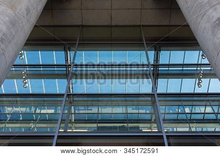 Glass Windows Of The Reichstag Building, The Most Visited Parliament In The World, Historic Edifice