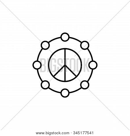 Shapes And Symbols, Pacifism, Circles, Peace Line Icon. Elements Of Protests Illustration Icons. Sig