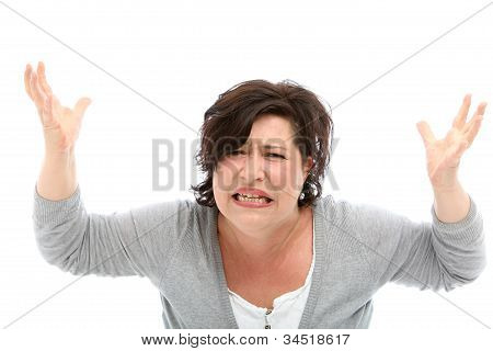 Distraught Woman