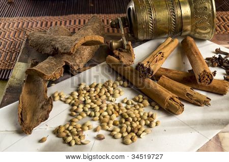 grinder with different spice