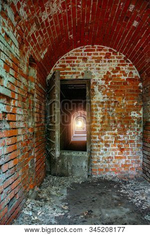 Old Rusty Door To Passage In German Fortification