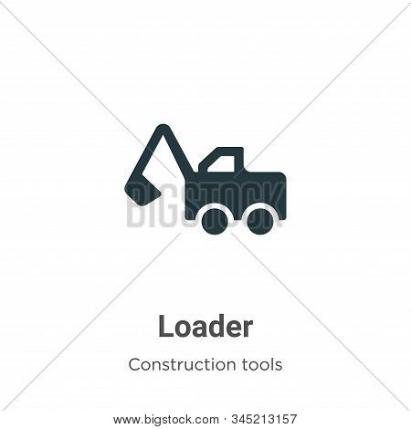 Loader Vector Icon On White Background. Flat Vector Loader Icon Symbol Sign From Modern Construction
