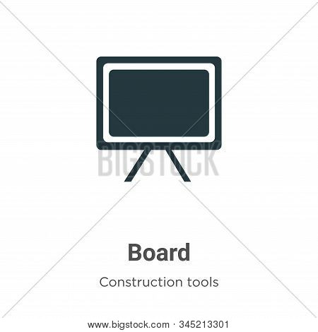 Board icon isolated on white background from construction tools collection. Board icon trendy and mo