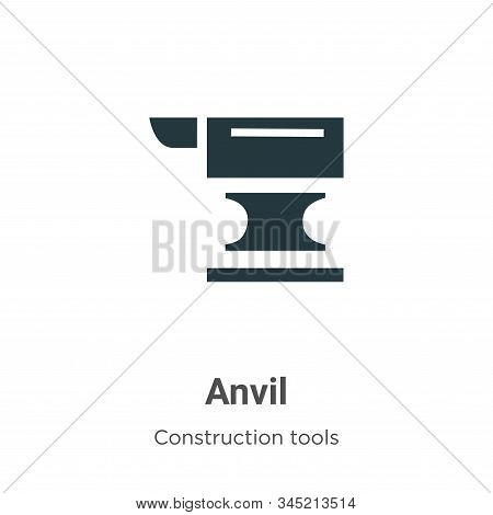 Anvil icon isolated on white background from construction tools collection. Anvil icon trendy and mo