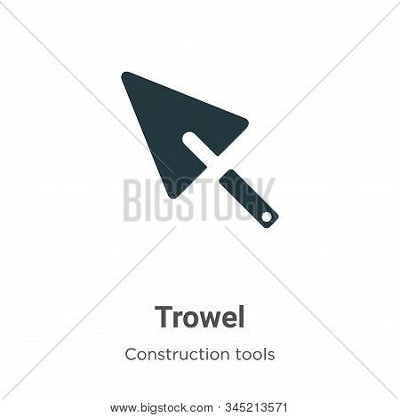 Trowel icon isolated on white background from construction tools collection. Trowel icon trendy and