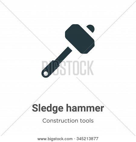Sledge hammer icon isolated on white background from construction collection. Sledge hammer icon tre