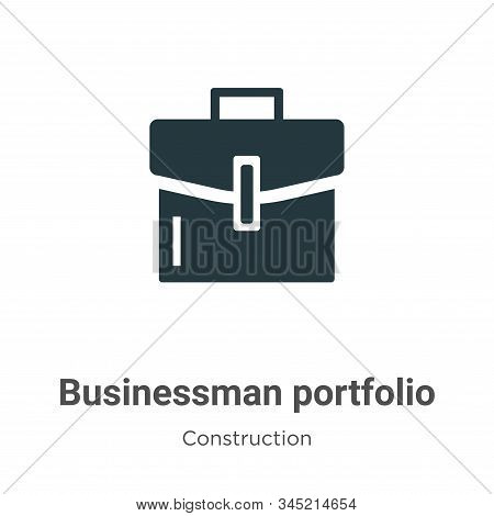 Businessman Portfolio Vector Icon On White Background. Flat Vector Businessman Portfolio Icon Symbol