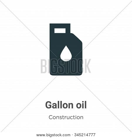 Gallon Oil Vector Icon On White Background. Flat Vector Gallon Oil Icon Symbol Sign From Modern Tool