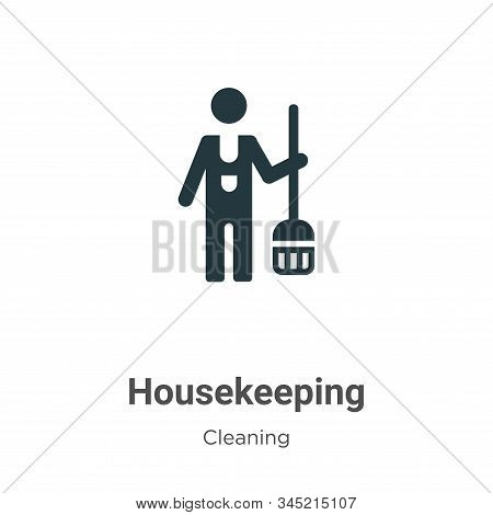 Housekeeping icon isolated on white background from cleaning collection. Housekeeping icon trendy an